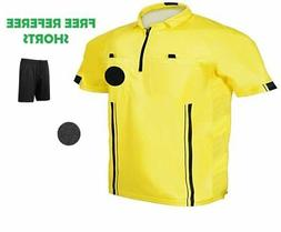 1 Stop Soccer Pro Referee Soccer Jersey Short Sleeves Free R