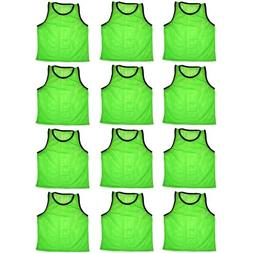BlueDot Trading 12 green adult sports pinnies-12 scrimmage t