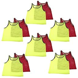 Adorox 24 Pack Adult - Teens Scrimmage Practice Jerseys Team