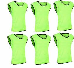12 Scrimmage Vests Soccer Basketball Team Training Adult Pin
