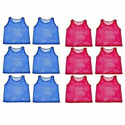 12pk YOUTH Scrimmage Practice Jerseys Team Pinnies Sports Ve