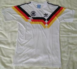 1990 Germany retro vintage classic soccer team home t-shirt