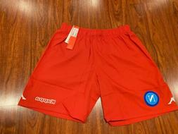 2015-16 Men's Kappa SSC Napoli Third Red Soccer Jersey Short