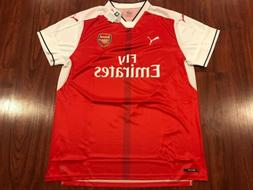 2016-17 Puma Arsenal Men's Home Soccer Jersey 2XL XXL Gunner
