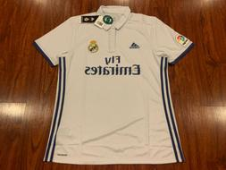2016-17 Adidas Real Madrid Men's Home Soccer Jersey Large L