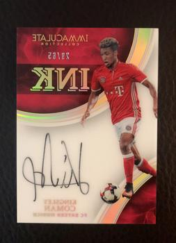 2017 PANINI IMMACULATE KINGSLEY COMAN ACETATE INK ROOKIE AUT