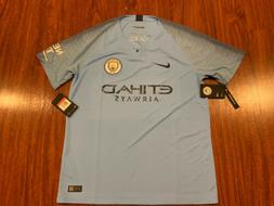 2018-19 Nike Breathe Manchester City Men's Home Soccer Jerse