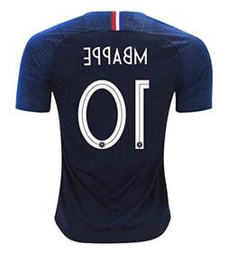 Redrun 2018 National Soccer Team France Mbappe 10 Home Men's
