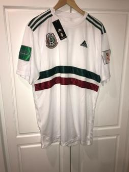 2018 white mexico soccer jersey, mens size 3XL short sleeve.