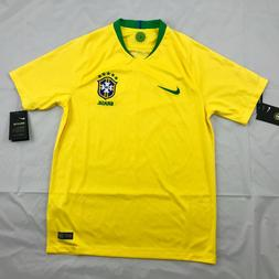 Nike 2018 World Cup Brazil Brasil Home Soccer Jersey Yellow