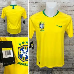 Nike 2018 World Cup Brazil Home Soccer Jersey Yellow 893856-
