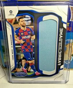 2019-20 PANINI CHRONICLES LIONEL MESSI FABRIC OF THE GAME JE