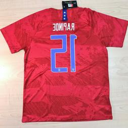 2019 Megan Rapinoe #15 Women's World Cup Soccer USA Away Jer