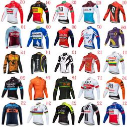 2019 Men Team Cycling Long Sleeve Jersey Bike shirt Bicycle
