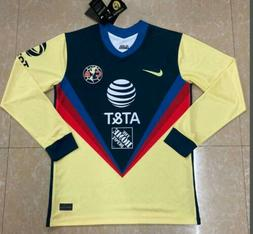 2020-2021 Club America Home Soccer Jersey Soccer Jersey Long