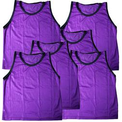 6 Pack YOUTH GIRLS PURPLE Scrimmage Vests Pinnies~ Team Spor