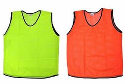 6 Scrimmage Vests Soccer Basketball Team Training Youth Adul