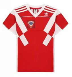 $60 Adidas Russia Football Jersey Shirt Boy's Sz LARGE Red