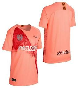 $75 NIKE 18/19 FC BARCELONA SOCCER THIRD JERSEY YOUTH 919235
