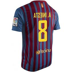 A. INIESTA #8 FC Barcelona Home Jersey Short Sleeve YOUTH.