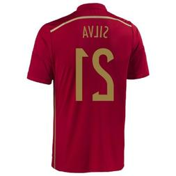 Adias Silva #21 Spain Home Jersey World Cup 2014