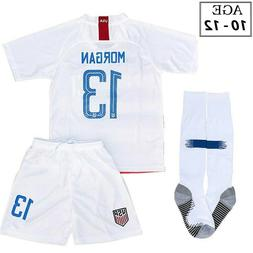 Alex Morgan Jersey Shorts & Socks For Girls Ages 7-9
