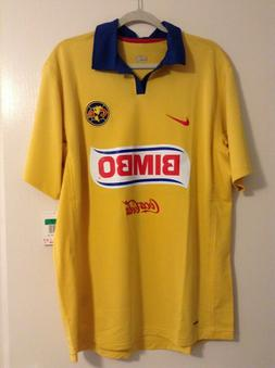 America Nike Authentic Vintage Aguilas Home Soccer Jersey Ad