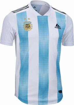 Adidas Argentina Authentic Home Men's Soccer Jersey- 2018 Wo