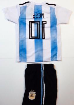 Argentina Messi #10 Home Team Youth Jersey + Short included
