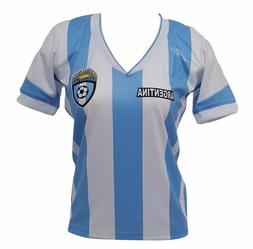 Argentina Slim Women Soccer Jersey Exclusive Design Made by