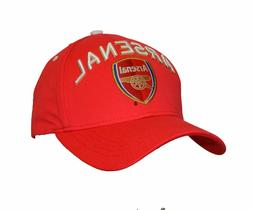 arsenal cap soccer football adjustable Hat red 100 % cotton