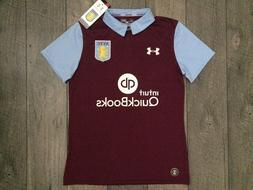 Under Armour Aston Villa FC EPL Home Soccer Jersey Womens Si