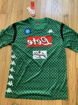 Authentic Kappa Napoli Calcio Soccer Jersey Mens NWT Goalkee