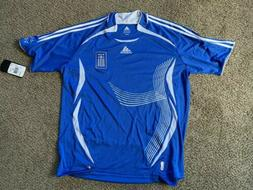 ADIDAS AUTHENTIC SOCCER JERSEY GREECE NATIONAL TEAM XL NEW F