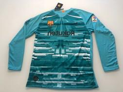 Barca Long Sleeves Sz EXTRA L Soccer  # 10    Messi Jersey.