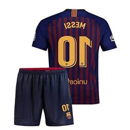 Barcelona 10 Messi Home Soccer Jersey & Short Set 2018/2019