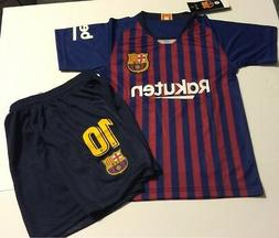 a1664550ff8 Editorial Pick Barcelona Home Messi kids Soccer Jersey Youth Boys Set Child