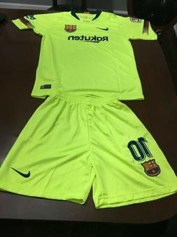Barcelona Messi #10 2018-2019 Away Kids Jersey, Shorts  11-