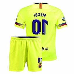 Barcelona MESSI #10 New Away Jersey Kids Soccer Jersey & Sho