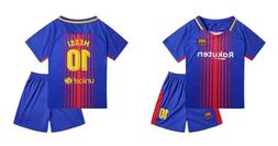 Barcelona MESSI #10 New Home Jersey Kids Soccer Jersey & Sho