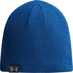 Under Armour Basic Knit Beanie Hat - Royal/Black/Silver - On