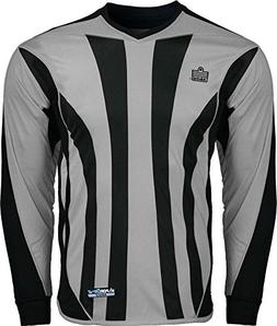 Admiral Bayern Soccer Goalkeeper Jersey, Silver/Black, Youth