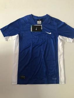 Nike Boys Authentic Soccer Jersey, Blue With White Sides, Si