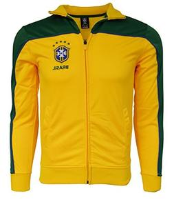 Brasil Jacket Youth Boys Soccer Track Brazil Zip up