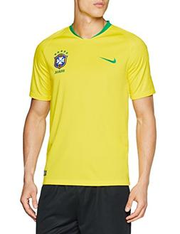 NIKE 2018-2019 Brazil Home Football Shirt, Yellow, Large