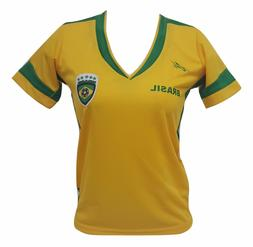 Brazil Slim Women Soccer Jersey Exclusive Design Mundial de