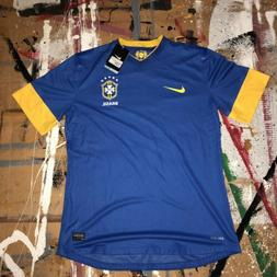 Nike Brazil Soccer Jersey Football 2018 Away Blue Brasil NEW