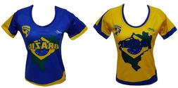 Brazil Women Soccer Jersey New With out Tags Made by Arza Sp