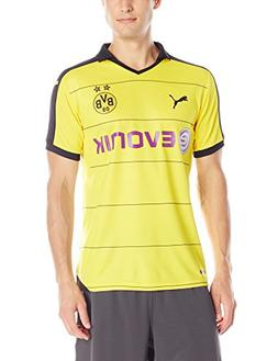 Puma Men's BVB Home Replica Shirt with Sponsor, Small, Cyber