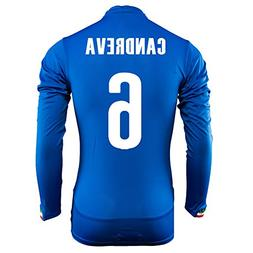 Puma Candreva #6 Italy Home Jersey World Cup 2014 Long Sleev